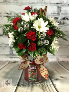 Holiday Yankee Candle & Bouquet