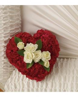 Devoted Heart Casket Adornment