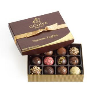 Godiva Classic Truffles 12 pc Assortment