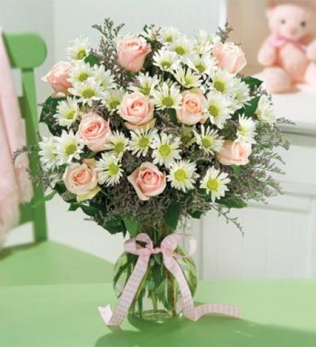 Baby Girl Rose Bouquet