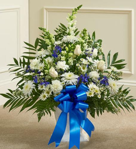Heartfelt Tribute Basket - Blue Hues