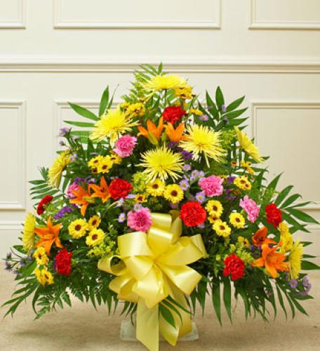 Heartfelt Tribute Basket - Bright Tones