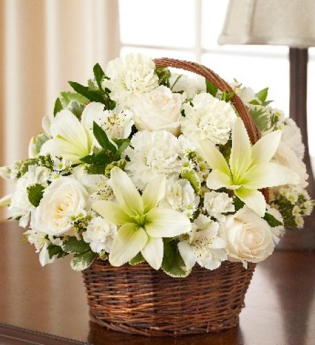 Blessings Sympathy Basket - White