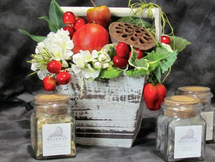 Apple Basket - Silk Arrangement