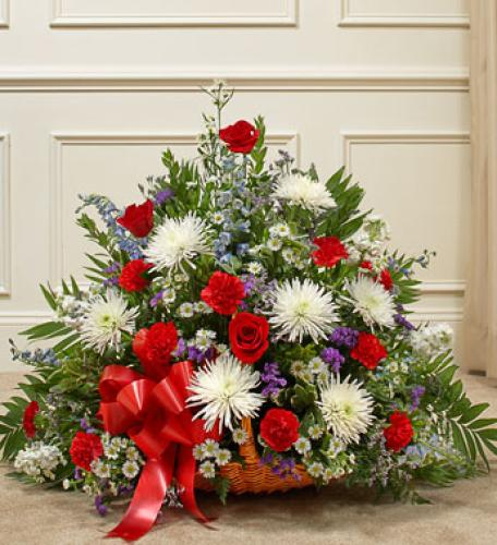 Thoughts and Prayers Fireside Basket - Patriotic Colors