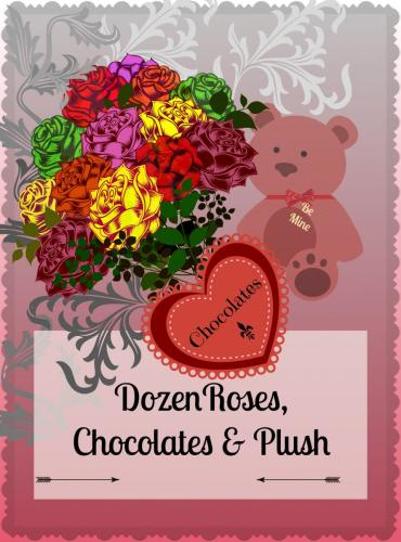 Designer\'s Choice - Valentine\'s Dozen Roses, Chocolate & Plush