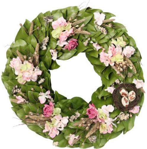 Roses and Magnolia Wreath ~ The Magnolia Company