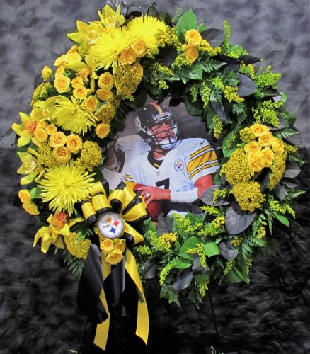 Forever Fan Memorial Wreath