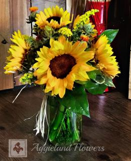 Fall Sunflowers & Chocolates