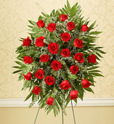 Tribute Two Dozen Rose Standing Spray