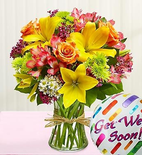 Get Well Bouquet and Balloon