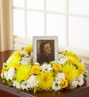 Memorial Table Wreath - Yellow