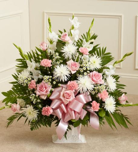 Heartfelt Tribute Basket - Pink Tones