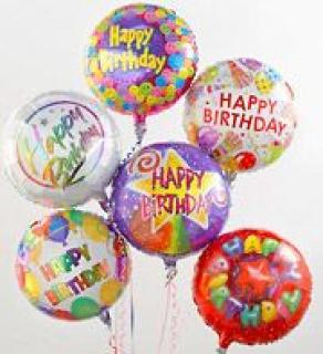 Mylar Happy Birthday Balloon Bouquet