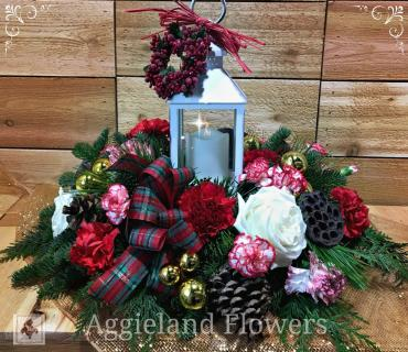 Tartan and Cedar ~ Traditional Centerpiece
