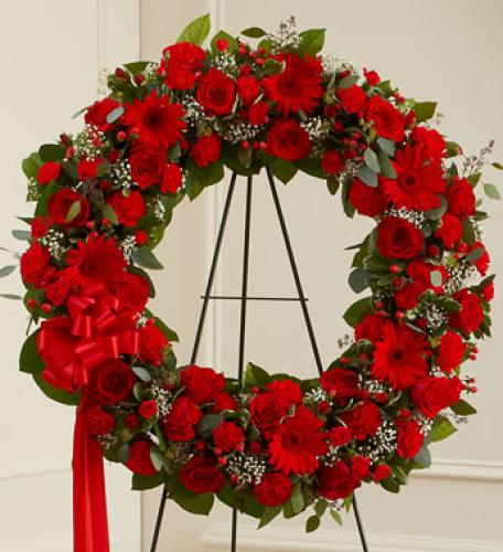 Serenity Wreath - Red