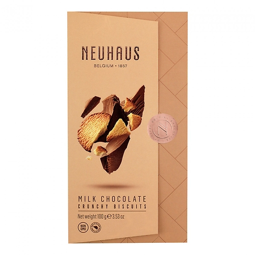 Neuhaus Milk Chocolate Tablet Crunchy Biscuits