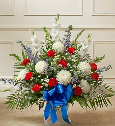 Heartfelt Tribute Basket - Patriotic Colors
