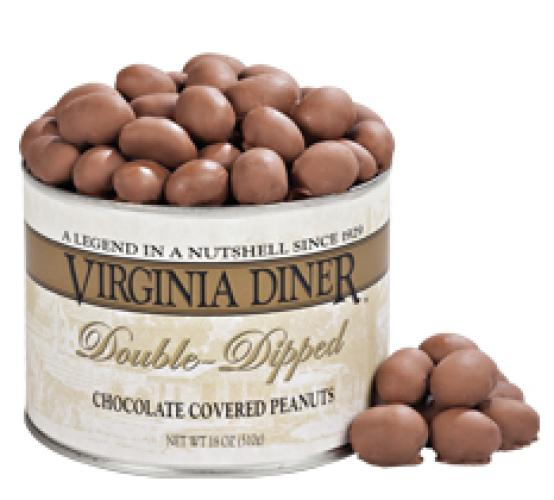 Double Dipped Chocolate Peanuts 10 oz Can