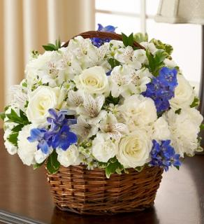 Blessings Sympathy Basket - Blue