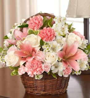 Blessings Sympathy Basket - Pink