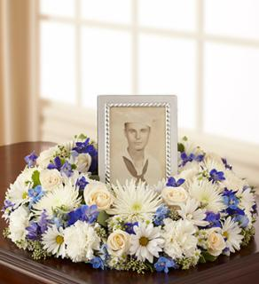 Memorial Table Wreath - Blue
