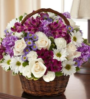 Blessings Sympathy Basket - Lavender