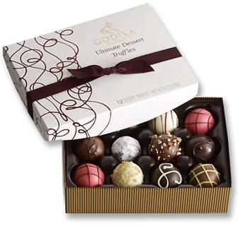 Godiva Dessert Truffles 12 pc Assortment
