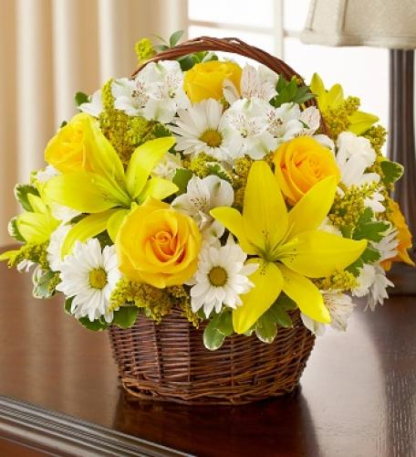 Blessings Sympathy Basket - Yellow