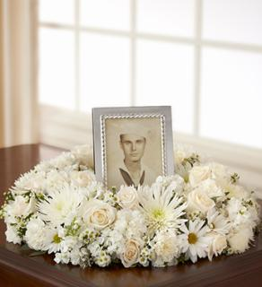 Memorial Table Wreath - White