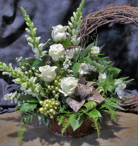 Peaceful and Serene Sympathy Basket