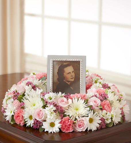 Memorial Table Wreath - Pink